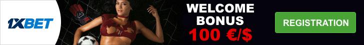 1xbet bonus 100%